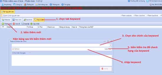 hướng dẫn sử dụng phần mềm seo