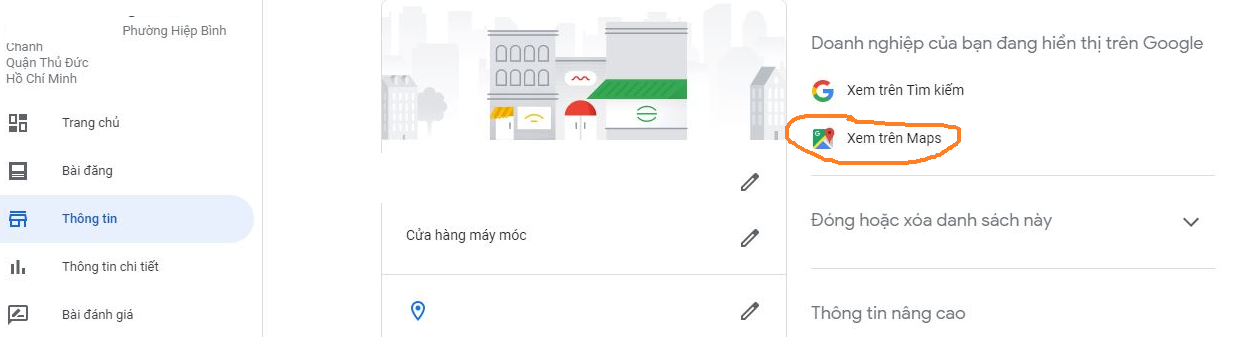tối ưu offpage google map